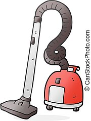 cartoon vacuum cleaner - freehand drawn cartoon vacuum...