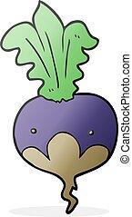 cartoon beet - freehand drawn cartoon beet
