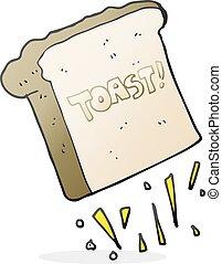 漫画, トースト,