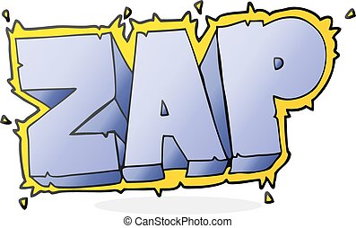 cartoon zap symbol - freehand drawn cartoon zap symbol