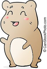 cartoon cute hamster - freehand drawn cartoon cute hamster
