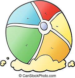 cartoon beach ball - freehand drawn cartoon beach ball