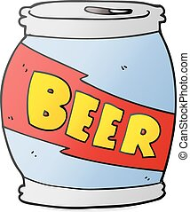 cartoon beer can - freehand drawn cartoon beer can