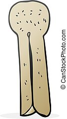 cartoon old wood peg - freehand drawn cartoon old wood peg