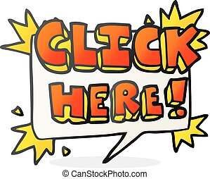 cartoon click here sign - freehand drawn cartoon click here...