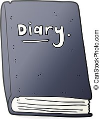 cartoon diary - freehand drawn cartoon diary