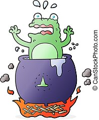 cartoon funny halloween toad - freehand drawn cartoon funny...