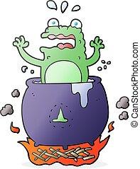 cartoon funny halloween toad