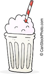 cartoon milkshake - freehand drawn cartoon milkshake