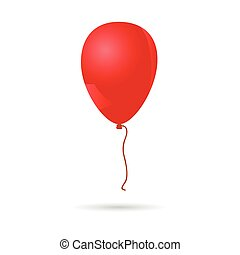 baloon red illustration on white background