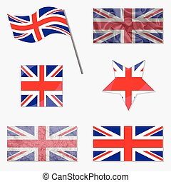 Set with Flags of United Kingdom