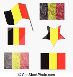 Set with Flags of Belgium