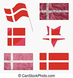 Set with Flags of Denmark