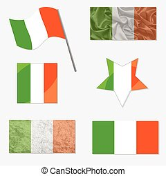Set with Flags of Ireland
