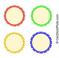 colorido, cinta, escarapela, es, símbolo, para,...