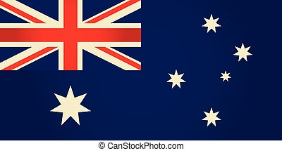 Australia flag.Vector illustration.