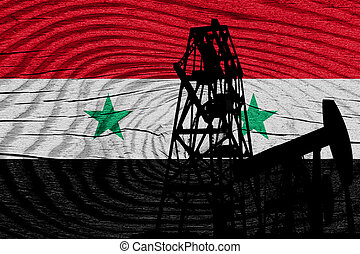 Syria flag with some soft highlights and folds