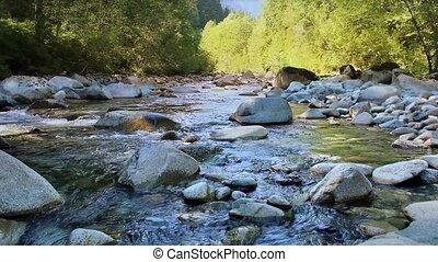 Beautiful Mountain River Loop