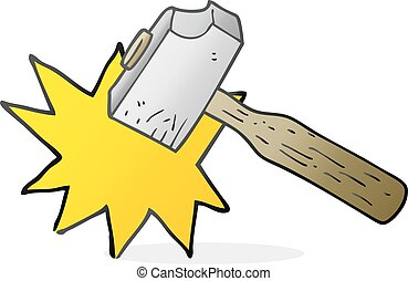 cartoon mallet - freehand drawn cartoon mallet