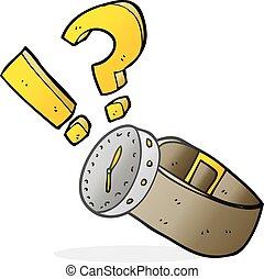 cartoon wrist watch - freehand drawn cartoon wrist watch