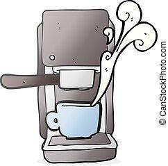 cartoon espresso maker - freehand drawn cartoon espresso...