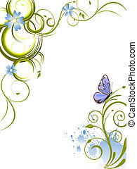 floral design - illustration of an elegant floral background...