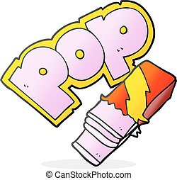 cartoon bubble gum - freehand drawn cartoon bubble gum