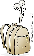 cartoon rucksack - freehand drawn cartoon rucksack