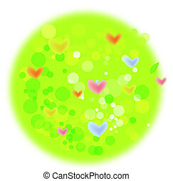 heart grass with green lawn