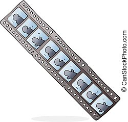 cartoon film strip - freehand drawn cartoon film strip