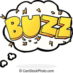 thought bubble cartoon buzz symbol - freehand drawn thought...