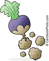 cartoon beet - freehand drawn cartoon beet