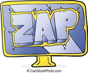 cartoon zap screen - freehand drawn cartoon zap screen