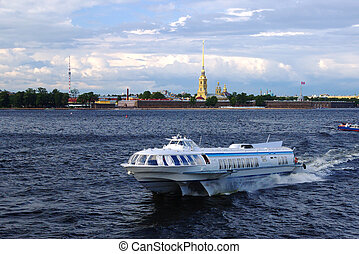Saint Petersburg Ship - Ship for sailing on the background...