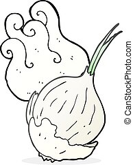 cartoon garlic - freehand drawn cartoon garlic