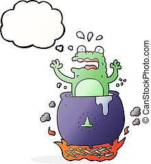 thought bubble cartoon funny halloween toad