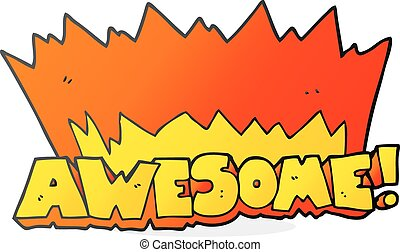 awesome cartoon symbol - awesome freehand drawn cartoon...