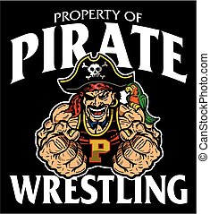 pirate wrestling - muscular pirate wrestling team design for...