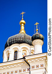 Crosses and domes of Foros Church, Foros Crimea Ukraine