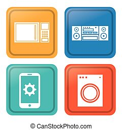 Internet of things design - Internet concept with things...