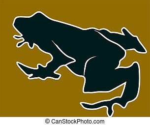 Toad - Illustration of a silhouette of a toad