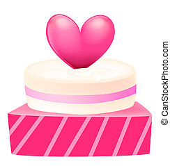 a cake with heart