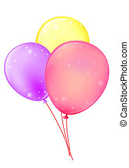 Balloon - three color ballon on the white background