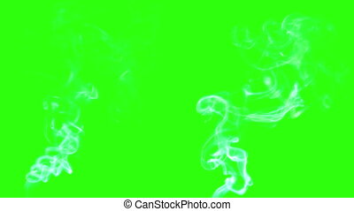 billowing smoke on green screen