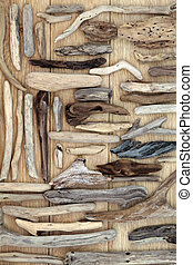 Driftwood - Natural driftwood abstract on oak wood...