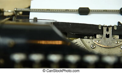 typing machine - Vintage typing machine. Close Up