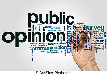 Public opinion word cloud