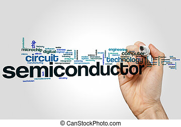 Semiconductor word cloud concept