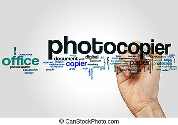 Photocopier word cloud concept