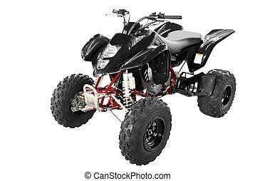 black 4x4 quadbike